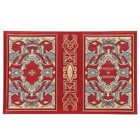 Copertina Messale III edizione in pelle rossa tessuto s3
