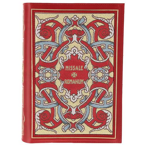 Copertina Messale III edizione in pelle rossa tessuto 1