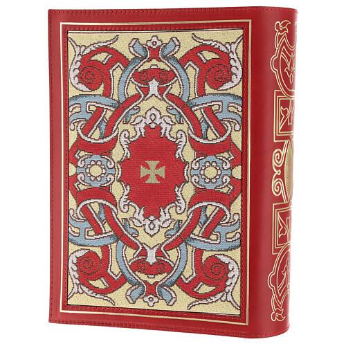 Copertina Messale III edizione in pelle rossa tessuto 2