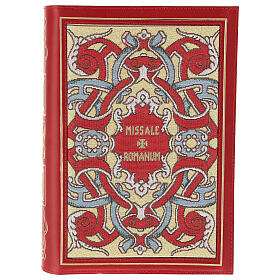 Missal cover III edition in red leather fabric s1