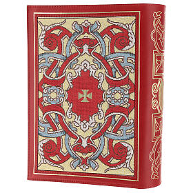 Missal cover III edition in red leather fabric s2