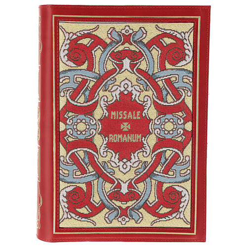 Missal cover III edition in red leather fabric 1