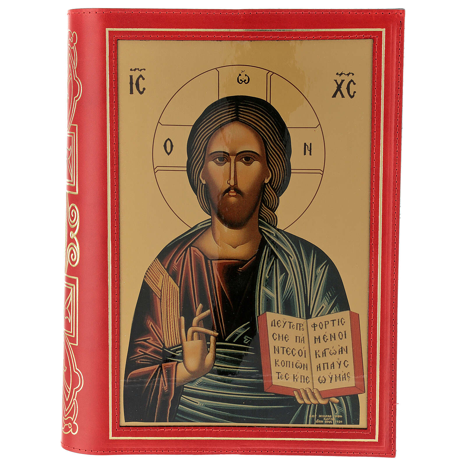 Missal cover III edition in leather with Greek Icon 4
