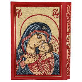 Copertina in pelle rossa tessuto Messale III edizione s2