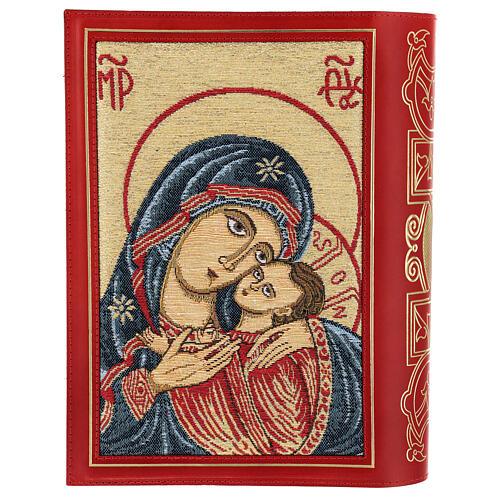 Copertina in pelle rossa tessuto Messale III edizione 2