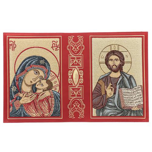 Copertina in pelle rossa tessuto Messale III edizione 3