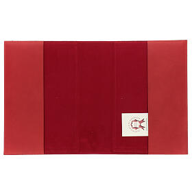 Red leather Missal cover III edition fabric s4