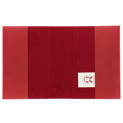 Red leather Missal cover III edition fabric 4