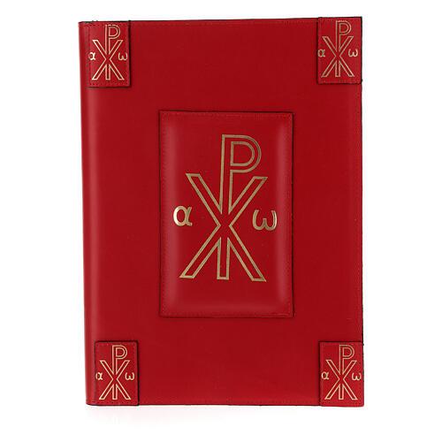 Custodia vera pelle rossa Messale Romano III EDIZIONE XP 1