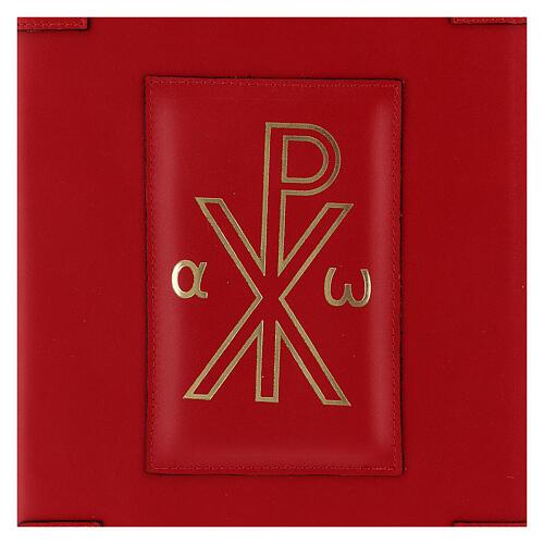 Custodia vera pelle rossa Messale Romano III EDIZIONE XP 2