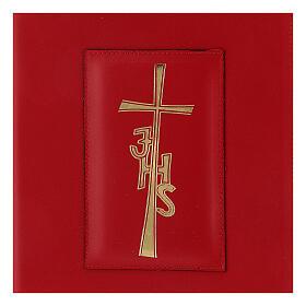 Copertina Messale Romano III EDIZIONE pelle rossa IHS s2