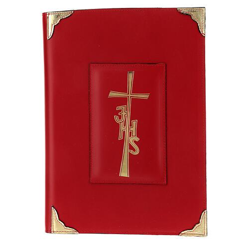Copertina Messale Romano III EDIZIONE pelle rossa IHS 1