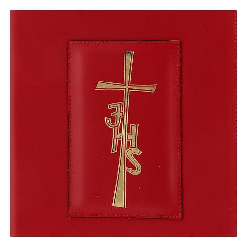 Copertina Messale Romano III EDIZIONE pelle rossa IHS 2