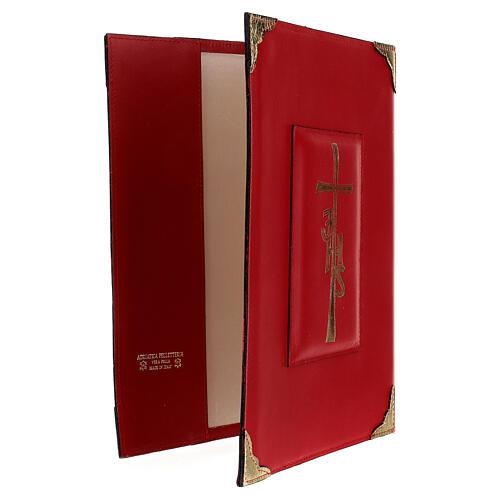 Copertina Messale Romano III EDIZIONE pelle rossa IHS 4