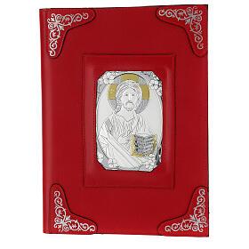 Custodia pelle rossa Gesù Messale Romano III EDIZIONE s1