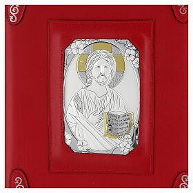 Custodia pelle rossa Gesù Messale Romano III EDIZIONE s2