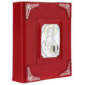 Custodia pelle rossa Gesù Messale Romano III EDIZIONE s3