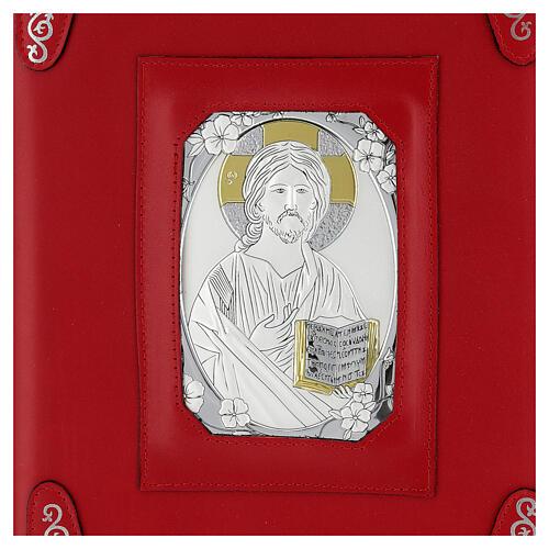 Custodia pelle rossa Gesù Messale Romano III EDIZIONE 2