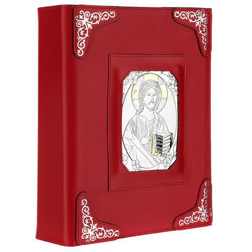 Custodia pelle rossa Gesù Messale Romano III EDIZIONE 3
