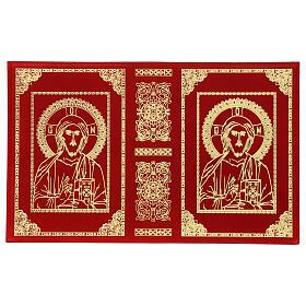 Copri Messale III edizione vera pelle rossa Cristo Pantocratore  s3