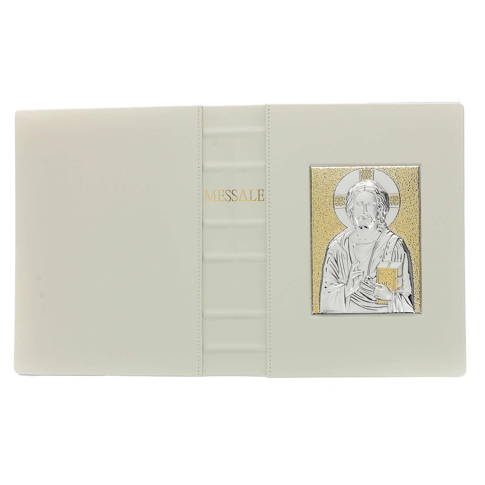 Custodia Messale III edizione vaticana rossa stampa alfa omega vera pelle  4