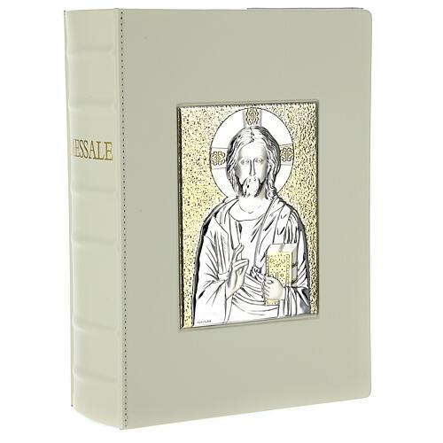 Custodia Messale III edizione vaticana rossa stampa alfa omega vera pelle  1