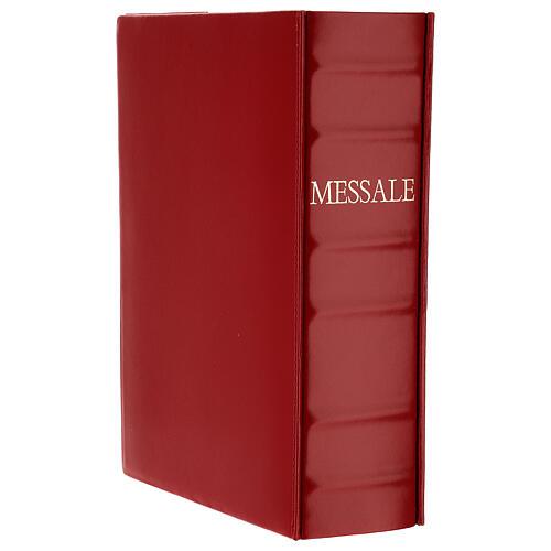 Custodia Messale III edizione vaticana rossa stampa alfa omega vera pelle  2