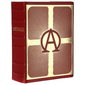 Custodia Messale III edizione pelle avorio placca bilaminato Cristo Pantocratore s1