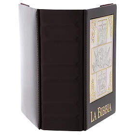 Bible cover with The Resurrection silver plated plate s5