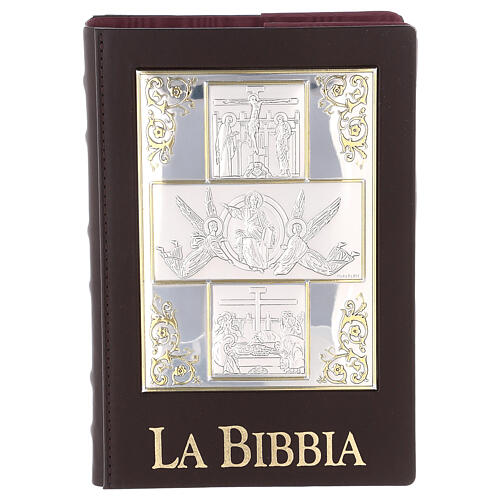 Bible cover with The Resurrection silver plated plate 1