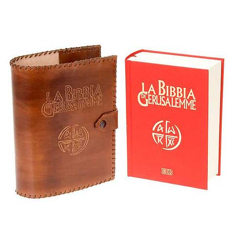 Leather slipcase for the Bible of Jerusalem 5