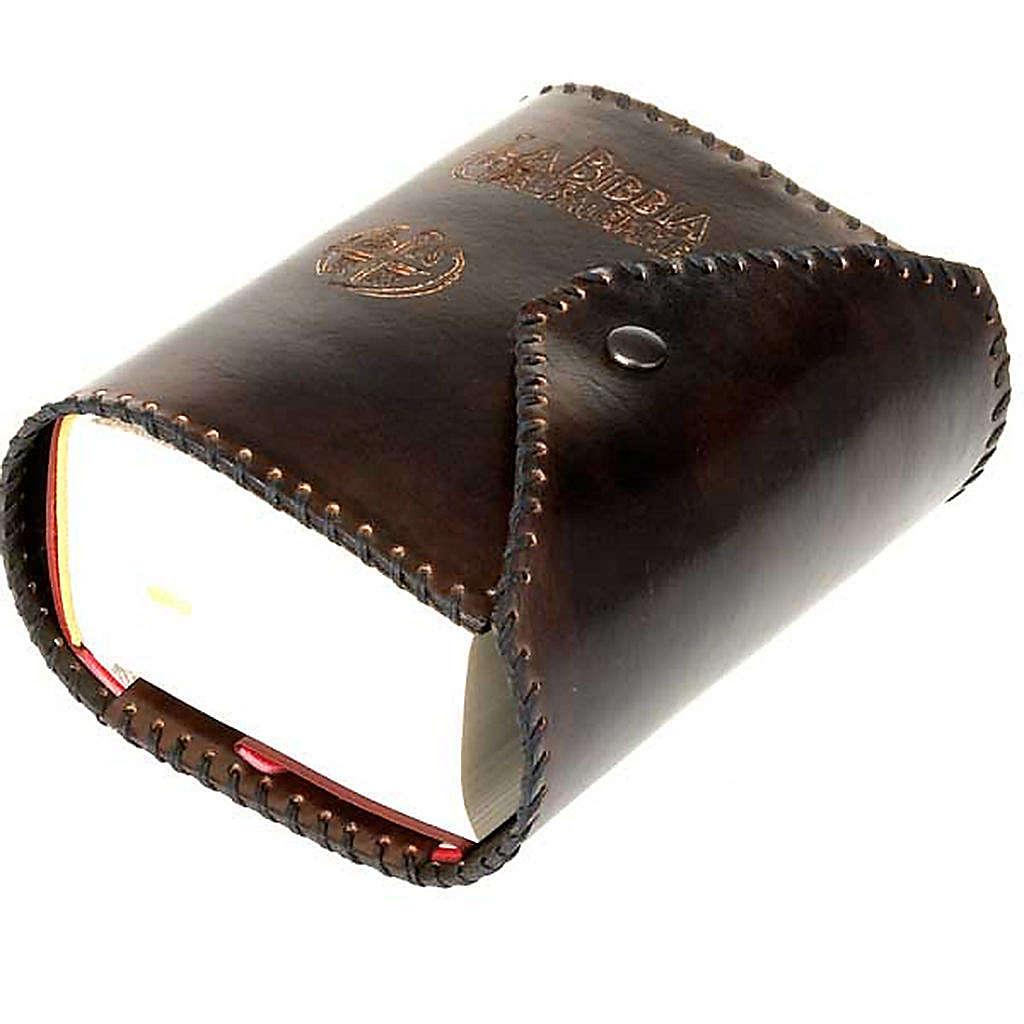 Copertina cuoio Bibbia Gerusalemme Tascabile 4
