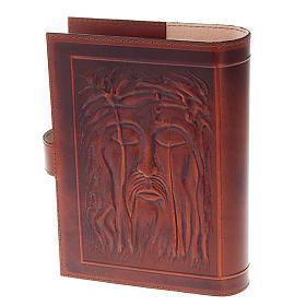 Custodia Bibbia vera pelle Cristo Madonna Bimbo s5