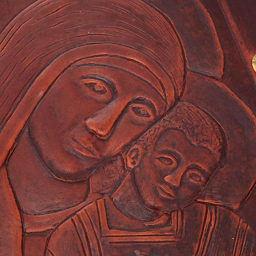 Custodia Bibbia vera pelle Cristo Madonna Bimbo 2