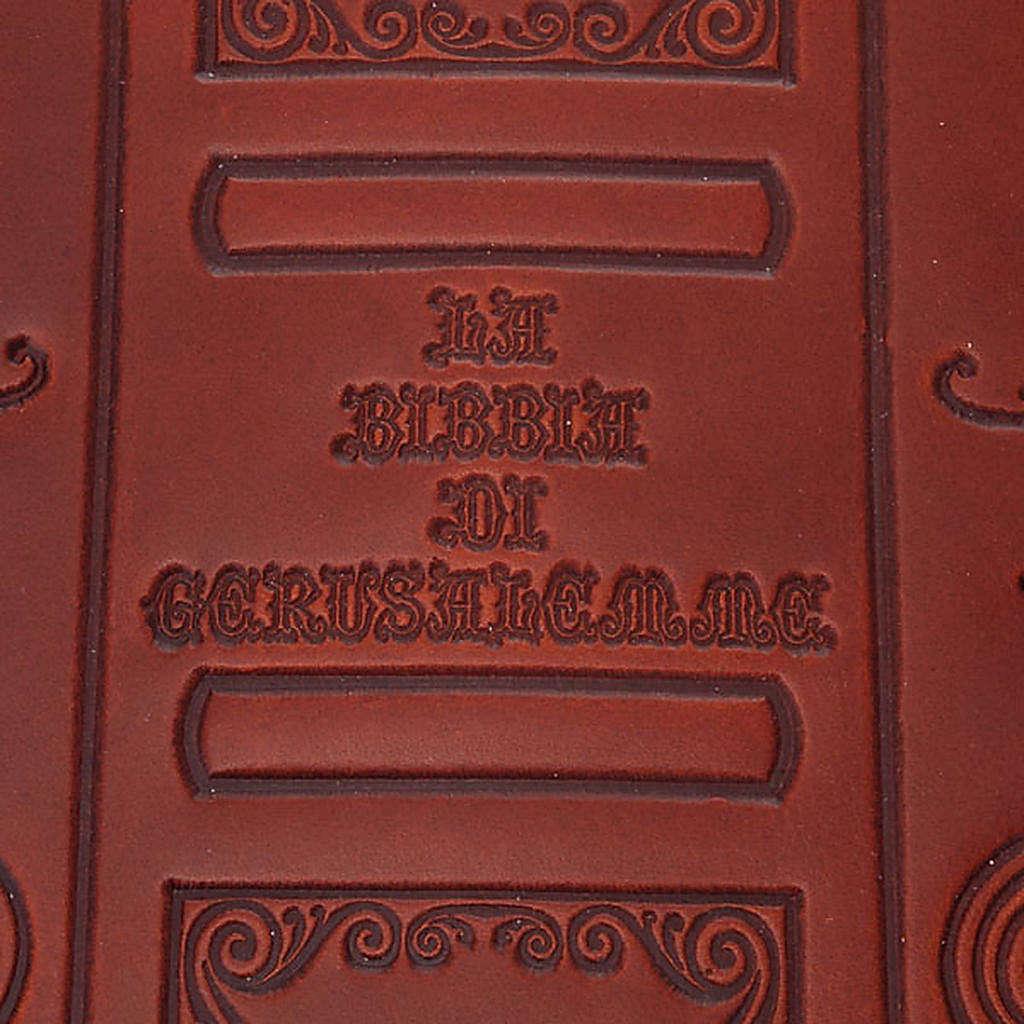 Copertina Bibbia vera pelle  decorata 4