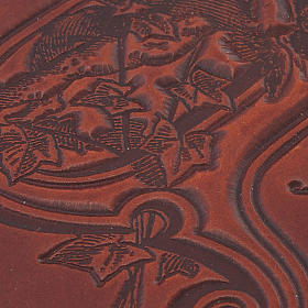 Copertina Bibbia vera pelle  decorata s2