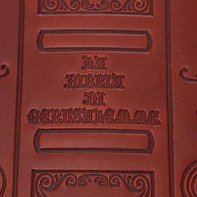 Copertina Bibbia vera pelle  decorata s3