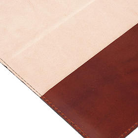 Copertina Bibbia vera pelle  decorata s4