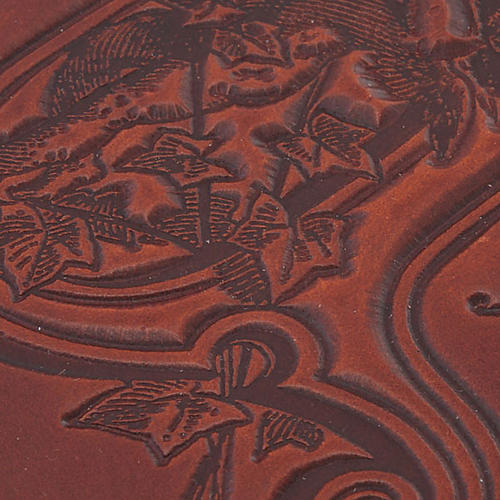 Copertina Bibbia vera pelle  decorata 2