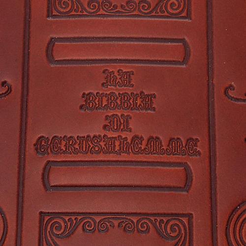 Copertina Bibbia vera pelle  decorata 3
