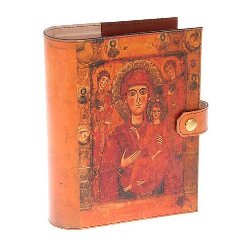 Copertina Bibbia vera pelle Madre di Dio Odigitria 1