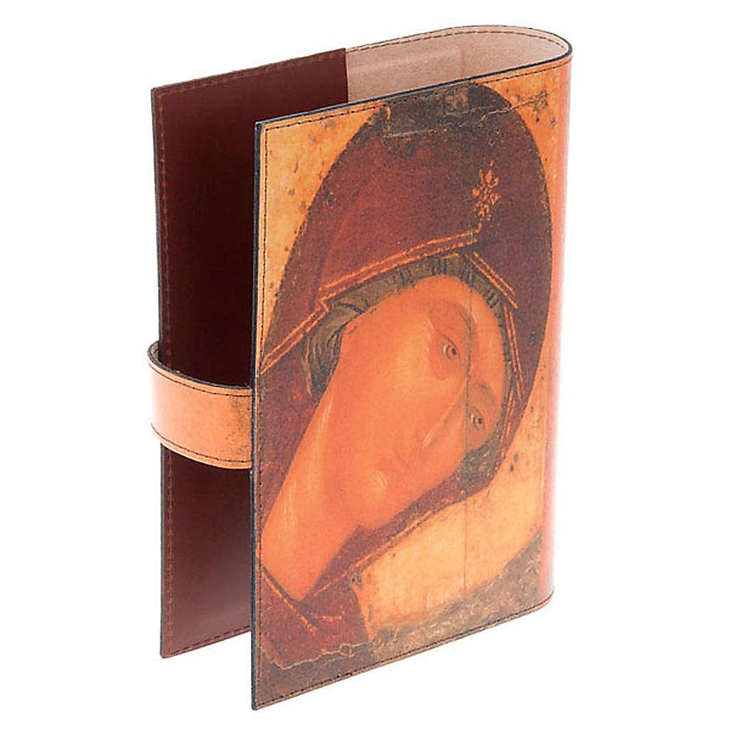 Copertina Bibbia vera pelle volto di Maria 4