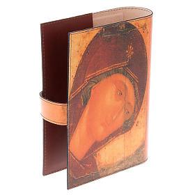 Copertina Bibbia vera pelle volto di Maria