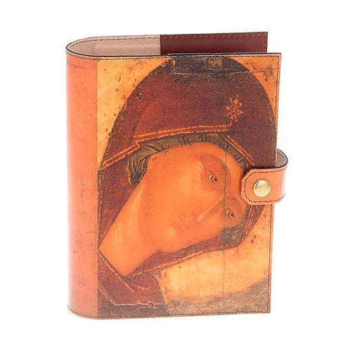 Copertina Bibbia vera pelle volto di Maria 1
