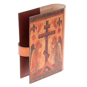Custodia Bibbia vera pelle icona angeli s4