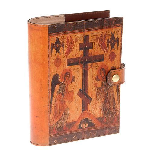 Custodia Bibbia vera pelle icona angeli 1