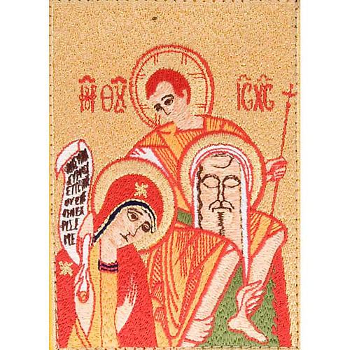 Custodia Bibbia di Gerusalemme immagine Sacra Famiglia rossa 2