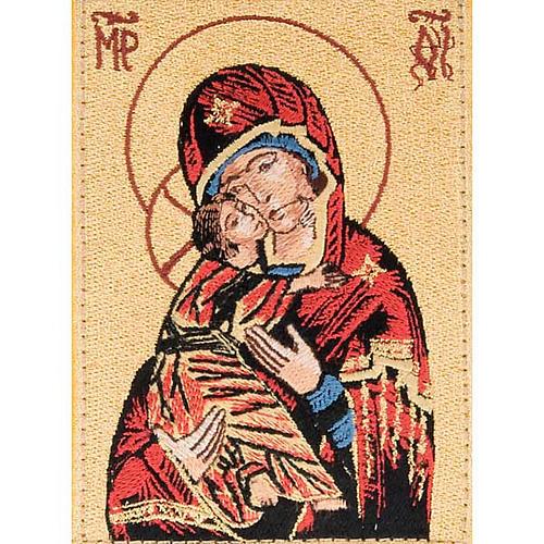 Custodia Bibbia di Gerusalemme immagine Madonna di Vladimir 2