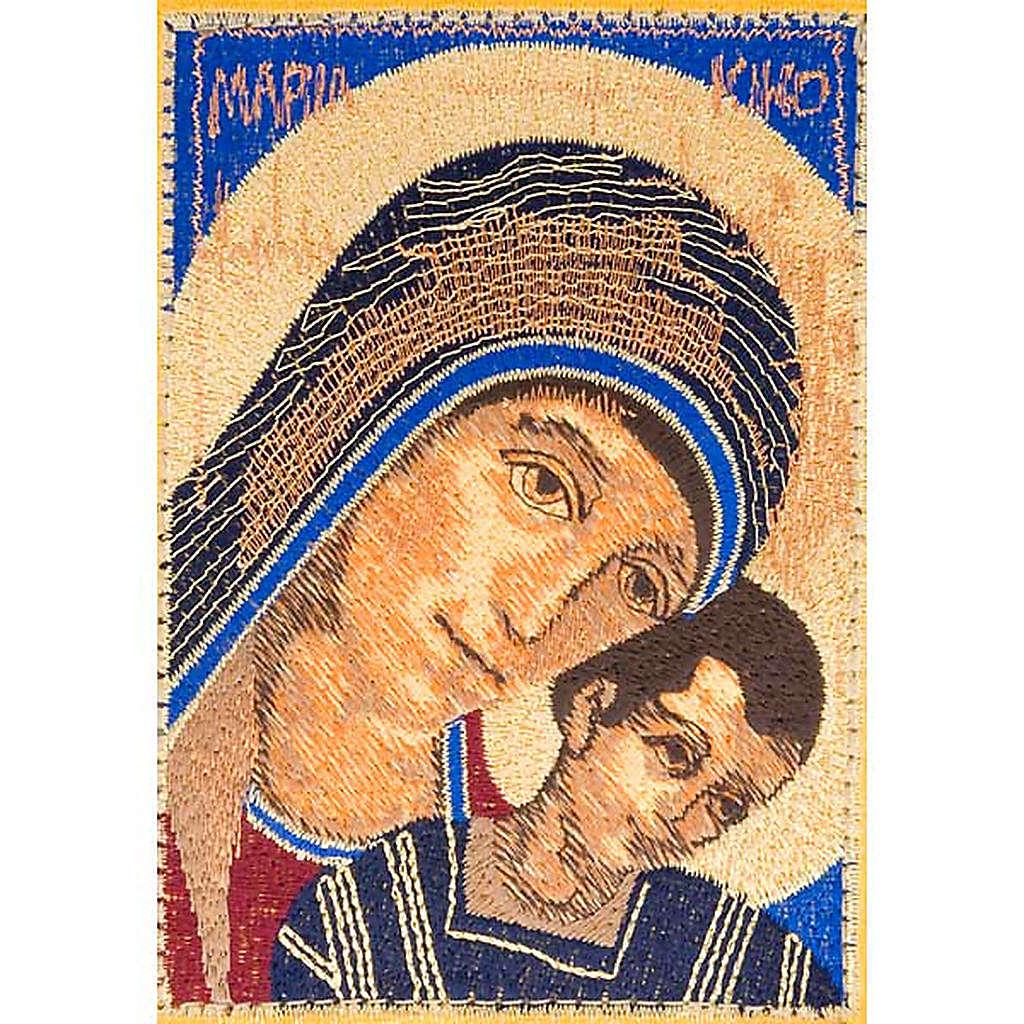 Copri bibbia Gerusalemme Madonna con bimbo primo piano 4