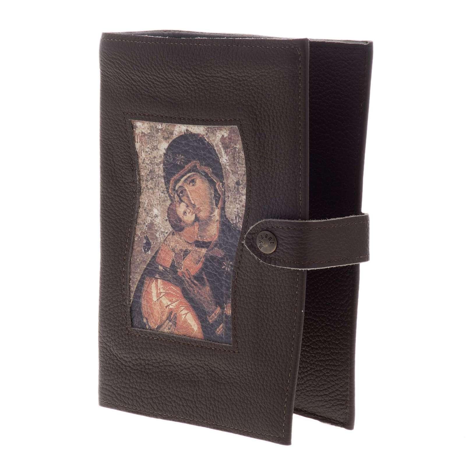 Copertina Bibbia Studio pelle Madonna e bambino 4